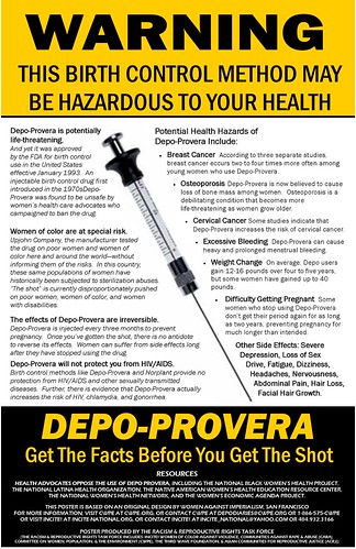 Warning To Depo Provera