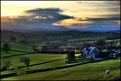 South East Wales Landscape, at Sunset (-terry-) Tags: sunset nature wales clouds landscape countryside country fields breathtaking monmouthshire diamondclassphotographer flickrdiamond flickrchallengewinner 15challengeswinner