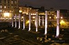 Roman Ruins at night, Rome, Italy