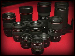 A Family of EF-Mounts (jomak14) Tags: canon kitlens 1855mm efs speedlite420ex speedlite580ex f3556 canonef50mmf18ii canon eos30d canonef85mmf18usm ef200mmf28l is canonef200mmf2lisusm canonefs1855mmf3556is editedinpicnik efs1855mmis efmountlenses