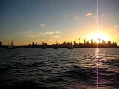 Sunset from Bradleys Head (Thomas Ritter) Tags: sunset water skyline sydney australia operahouse sailingboat bradleyhead