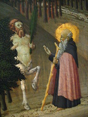 Saint Anthony and the Centaur (Satyr?)