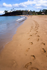 Beach Walk (Trevor Smiley) Tags: ocean beach water hawaii lenstagged sand footprints maui 1870mmf3545g afsdxzoomnikkor1870mmf3545gifed nikon1870mmf3545