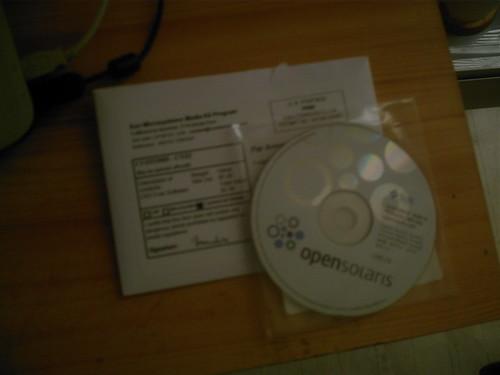 Un exemplaire officialisé d'OpenSolaris 2008.5