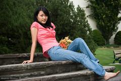 Sophia (Andrew Ebrahim) Tags: park pink toronto ontario canada girl beautiful gardens asian model photoshoot cranes edward sophiatang