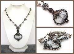 smokey silver necklace