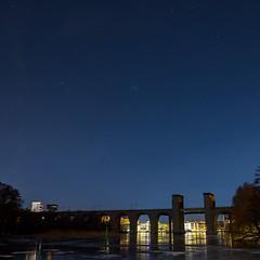 Årstabron, starred (photomatic.se) Tags: ifttt 500px årstabron sweden nightscape bridge stars astrophoto cityscape