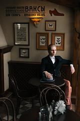 Hat Bar (Mishael Sitsko) Tags: bar suit gentle film canon 50mm 18 6d cafe hat smoking light movie elegant colors