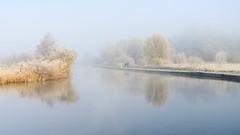 Walking in a... (Justin Minns) Tags: howhill landscape winter turffen frost couple fog frozen soft norfolk walk