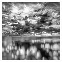 sunset in bw key largo (GR167) Tags: 100faves square bw blackandwhite iphone hipstamatic hdr snapseed sunset