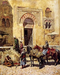Entering the Mosque. Edwin Lord Weeks