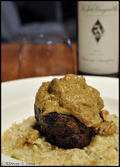 Dry age filet over risotto (CADiver) Tags:  tamron1750 nikond90