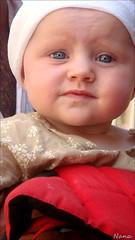 IRIS, ma belle............!!! (nanettesol) Tags: blue iris portrait baby cute girl landscape eyes looking sweet retrato nia cheeks bebe provence lovely francia tender belleza mofletes inocence gorrito nanettesol