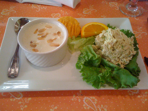 Cucumber soup and chicken salad, Just for Lunch, Memphis, Tenn.