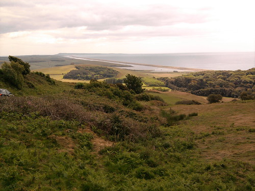 View over Chesil Beach from the Coast road by rowsew