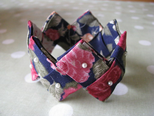 Fabric Origami Bracelet by Handmade and Heritage