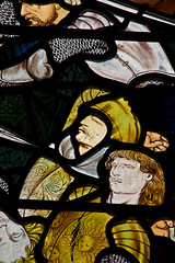 south window - the battle of ajalon detail 1 (Sic Itur Ad Astra LRPS) Tags: england church joshua saints stainedglass stonecarving hampshire angels sculptures newforest tombs lyndhurst williammorris preraphaelite fredericlordleighton edwardburnejones dantegabrielerossetti battleofajalon