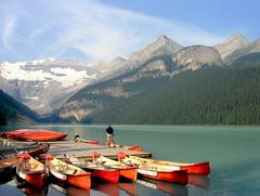 Lake Louise (njchow82) Tags: banff alberta canada canoes mountains scenic glaciers lakelouise canadianrockies amazingalberta scenicsnotjustlandscpaes worldtrekker theworldisbeautiful njchow82 beautiful earth beautifulexpression inspiredbylove flickrlovers mmmilikeit