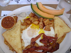 Heart Attack on a Plate (Bill Binns) Tags: fall breakfast bacon beans october montreal diner frenchtoast eggs crepes 2007 stuffiate