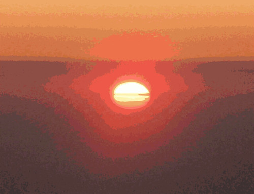 clipart sunset. Sunset over Oz