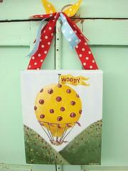 Woody Hot Air Balloon (Natasha Burns) Tags: blue red hot yellow air balloon spot