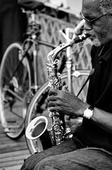 Jazz (sbrrmk) Tags: life people urban blackandwhite bw newyork jazz newyorker hayat insan siyahvebeyaz dnyadaninsanmanzaralar dunyamdaninsanmanzaralari