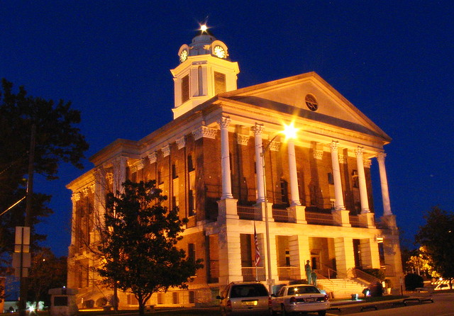Bedford Co. Courthouse #1 at dusk