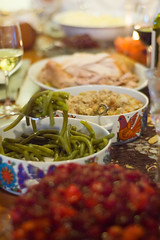 Thanksgiving Spread (CarbonNYC) Tags: thanksgiving food feast table spread d70s meal greenbeans dishes thanksgivingdinner offerings thanksgivingmeal carbonnyc