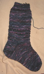 Christmas sock for Lesley