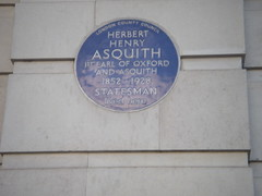 Photo of Herbert Henry Asquith blue plaque