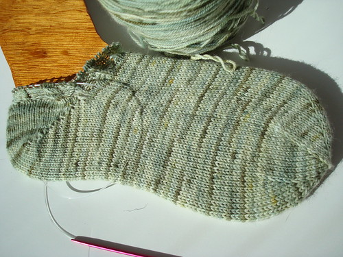 Mom's Not so plain ankle sock WIP