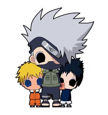 naruto sasuke sakura and kakashi. Kakashi,naruto,sasuke chibi by