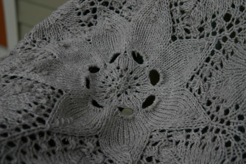 Close up of center of blanket