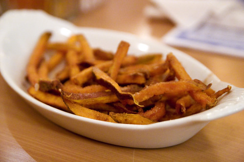 sweet potato fries with cinnamon and sugar!