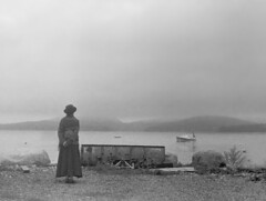 maine (dannysoar) Tags: water boat waiting trix gray maine victorian shore zorki1 pictorialism collapsableindustar lotzaphotshop