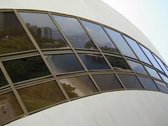 Museum of Contemporary Art (Q's wandering...) Tags: reflection window riodejaneiro architecture mac oscarniemeyer museudeartecontemporanea