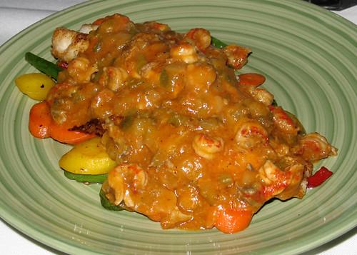 Grilled Mahi-Mahi topped with Crawfish Etouffee