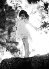 Fly ({amanda}) Tags: light girl evening child little gorgeous mykid 85mm naturallight dancer sunflare fiveyears whitedress 5years amandakeeysphotography matildajaneclothing