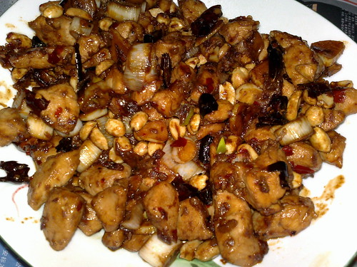 Kung Pao Chicken. Homemade kung pao