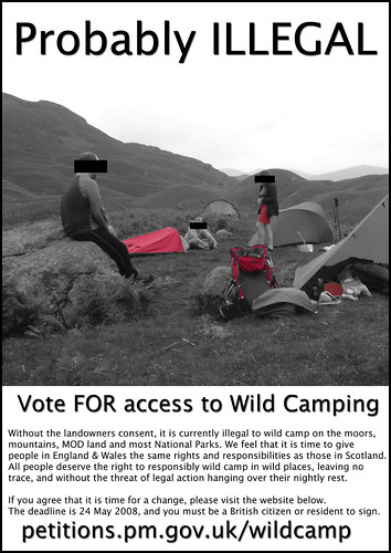 pro-Wild camping poster