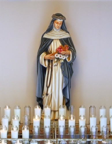 Saint Rose of Lima Roman Catholic Church, in De Soto, Missouri, USA - statue of Saint Rose of Lima