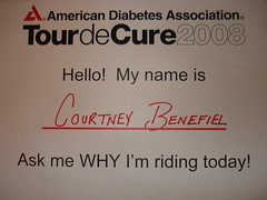 Ask me why I ride - Diabetes 365 Day 148 - March 1, 2008