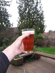 Back home enjoying the latest batch of American Pale Ale.