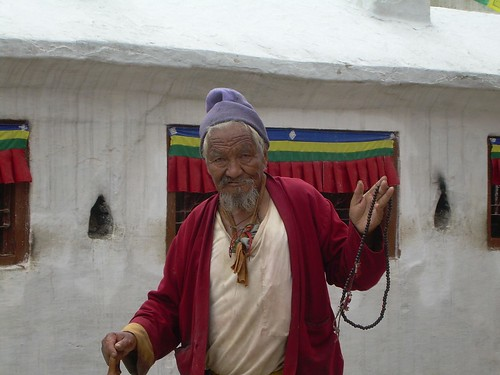 Fiel budista en Bodnath
