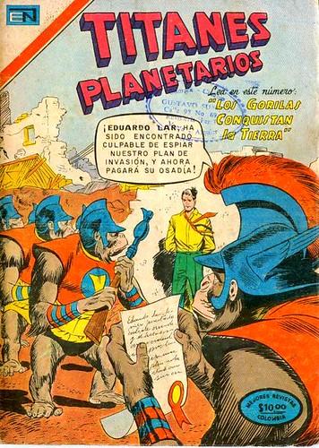 Portada Comics Titanes Planetarios Novaro Aguila 1