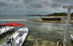 Grey Skies and Bright Sun (RussHeath) Tags: color island nikon raw belize tropical ambergriscaye hdr 3x nikon18200 d80 3exposure
