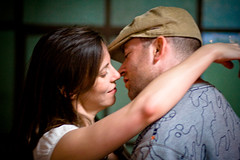(ConradLandais) Tags: nyc portrait newyork brooklyn kiss couple streetphotography bodylanguage williamsburg moment embrace saturdayafternoon canon85mmf18 loveatfirstsight spacebetween