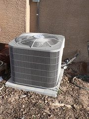 unshaded A/C condenser
