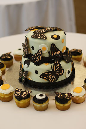 Butterfly Cake - with cupcake love