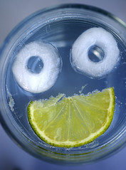 The face of summer (The Green Album) Tags: summer green ice glass face mouth eyes bubbles humour lime gt gin refreshing tonic icecube gintonic whatsummer abigfave aplusphoto theperfectphotographer damniwishidtakenthat